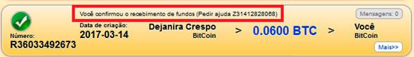 mmm brasil quero receber ajuda confirmado o recebimento de fundos