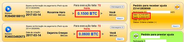 mmm brasil quero receber ajuda informacao detalhada valor e saldo btc