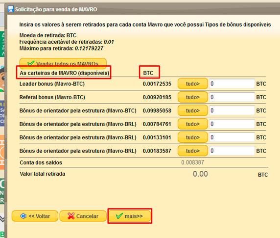 mmm brasil quero receber ajuda selecionar carteiras de mavros disponiveis