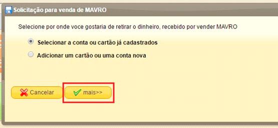mmm brasil quero receber ajuda solicitacao para venda de mavro